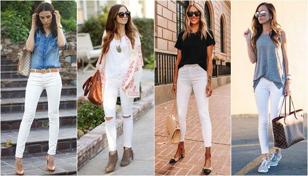 Sortimentos.com Looks da Moda Feminina - calça jeans branco