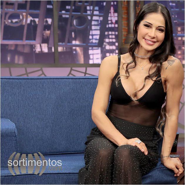 Sortimentos - Mayra Cardi no The Noite com Danilo Gentili no SBT