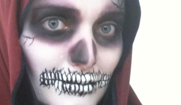 Halloween : Dica de Maquiagem ( Caveira ) - Sortimentos.com