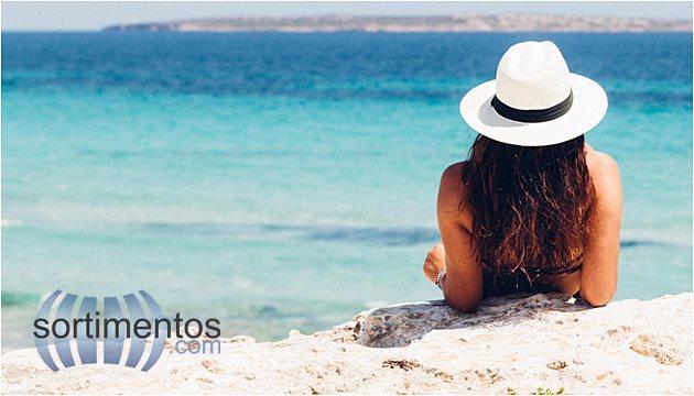 Mulher na Praia no Verao Sol -Sortimentos.com