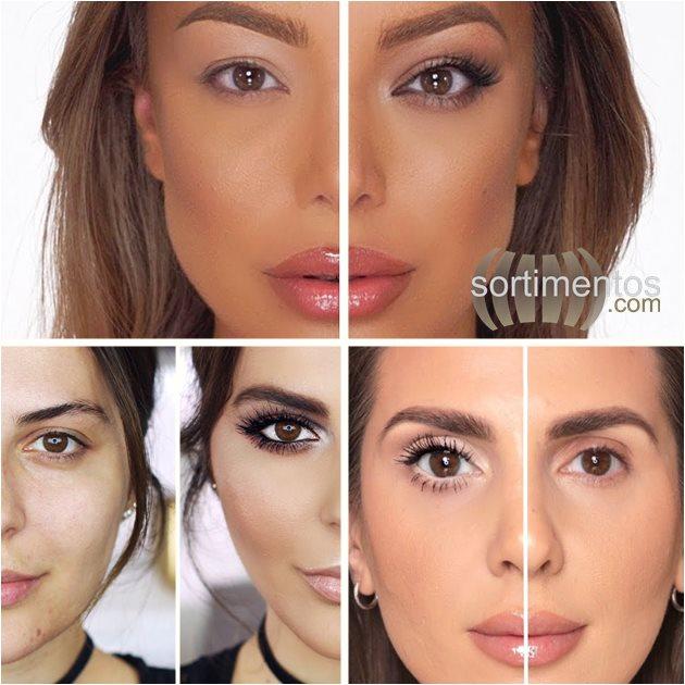 Maquiagem para aumentar os olhos - Sortimentos Looks da Moda