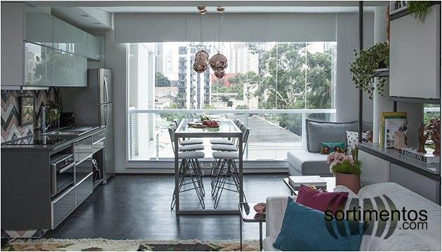 Ambientes - Cozinha -Apartamentos Pequenos - Sortimentos.com