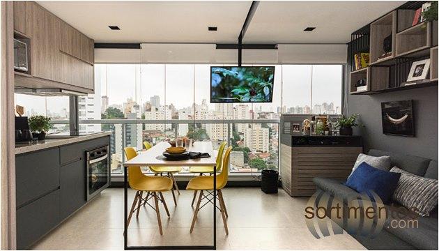 Cozinha - Ambientes -Apartamentos Pequenos - Sortimentos.com