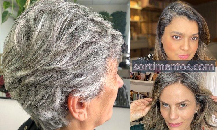 Cabelos brancos e grisalhos - Looks da Moda Feminina - sortimentos.com